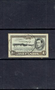 ASCENSION ISLAND - 1938 KING GEORGE VI - 1sh - SCOTT 46a - USED ON PIECE