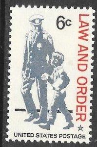 USA 1343: 6c Policeman and Boy, MNH, VF