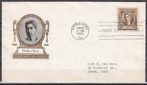 United States, Scott cat. 883. Am. Composer E. Nevin, First day cover. ^