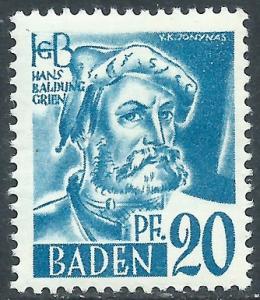 Baden, Sc #5N7, MH