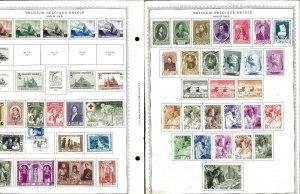 Belguim 1938-1984 Mint & a few Used Hinged on Minkus Global Pages