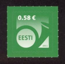 Estonia Sc# 677 MNH Post Horn Definitive