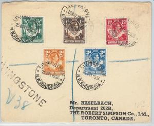 59546 - NORTHEN RHODESIA - POSTAL HISTORY: REGISTERED COVER to CANADA - 1938