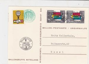 balloon post stamps cover  ref 18777