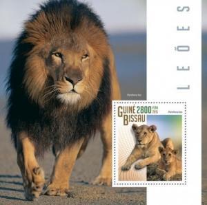 Z08 GB15102b GUINEA-BISSAU 2015 Lions MNH ** Postfrisch