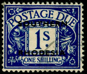 SOUTHERN RHODESIA SGD7, 1s dp blue, FINE USED.