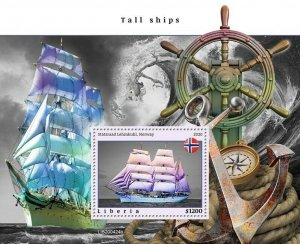YEAR 2020/10- LIBERIA- TALL SHIPS        1V complet set    MNH ** T