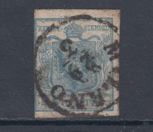 Lombardy-Venetia Sc 6b used 1850 45c Coat of Arms, scarce