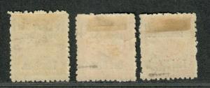Penrhyn Island Sc#10-12 M/H/F-VF, Complete Set, Cv. $96.50