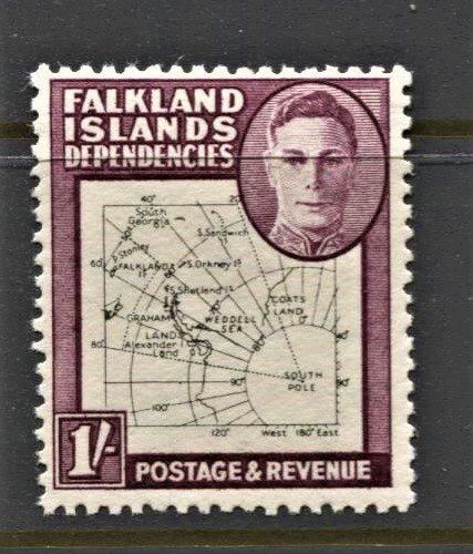 STAMP STATION PERTH -Falkland Is.Dep.#1L8 MNH OG VF Thin Maps CV$40 (Set CV$130)