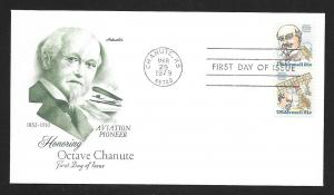 UNITED STATES FDC 21¢ Octave Chanute PAIR 1979 Artmaster