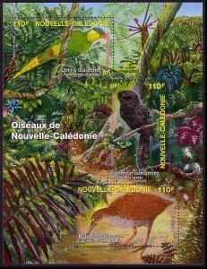 New Caledonia Endangered Birds BirdLife MS SG#MS1380