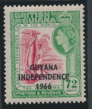 Guyana Independence 1966 SG 395 Mint Never Hinged