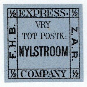 (I.B-CK) Transvaal Local Post : Bakker's Express ½d (Nylstroom)