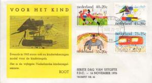 Netherlands, First Day Cover, Children