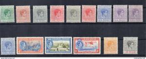 Bahamas 1938 - sg no 149 to 155 /158 to 160 lmm cv 90gbp +