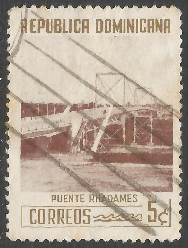 DOMINICAN REPUBLIC 521 VFU BRIDGE 541G-1