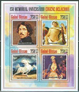 GUINEA BISSAU  2013 150th MEMORIAL  ANNIVERSARY  OF EUGENE DELACROIX SHT MINT NH