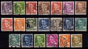 Denmark 1948-55 Frederik IX Definitives, Part Set [Used]