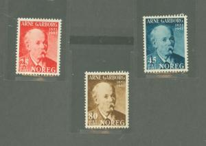 Norway 318-320 Mint VF H tiny thins