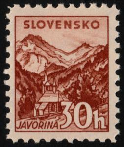 ✔️ SLOVAKIA 1940/1943 - FLORA FAUNA WM 263 PERF 10½ - SC. 49a MNH OG [SK075YB]