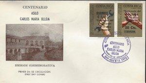 Costa Rica Cent Asilo Carlos Maria Ulloa, Surcharged, Sc C721-C722 FDC 1978