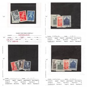 Lot of 93 Netherlands Used Semi Postal Stamps Scott Range B71 - B530 #145703 X R