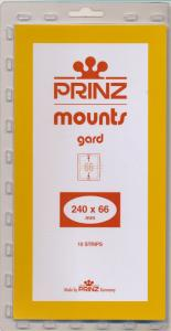Prinz Scott Stamp Mount 66/240 CLEAR Background Pack of 10