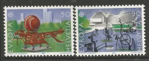 SWITZERLAND 808-809, MNH, PAIR OF STAMPS, SCULPTURE