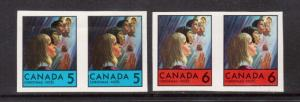 Canada #502P - #503P Mint Imperforate & Printed On Both Sides Proofs
