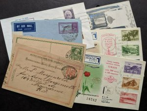 EDW1949SELL : ISRAEL Collect of 7 covers/Post cards. Mostly from or to Palestine