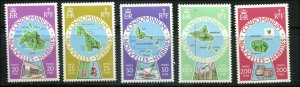 British New Hebrides SC#241-2, 246, 248-9 Colony Maps MNH