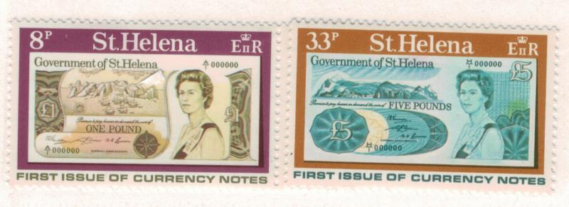 St. Helena Scott #293 To 294, St. Helena Bank Notes Issue From 1976