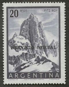 Argentina O105 Used VF scott # on back