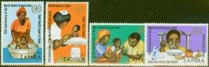 Zambia 1973 W.H.O 25th Anniv set of 4 SG199-202 V.F MNH