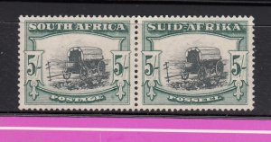 J28446, 1933-54 south africa mhr pair #64 black and green perf 14 ox wogon