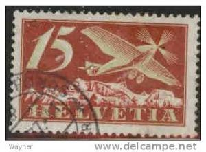 1923 Switzerland Scott C3 Airmail used