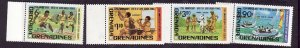 Grenada Grenadines-Sc#475-8-unused NH set-Scouting-Boy Scouts-1982-