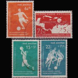 NETH.ANTILLES 1957 - Scott# B31-4 Soccer Set of 4 Used