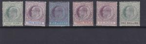 LAGOS  1904 - 06       S G  54 - 60  VARIOUS VALUES  TO  1/-   MH  CAT £60