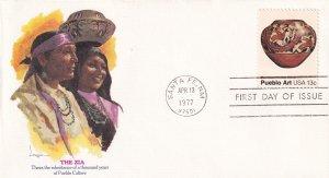 1977, Pueblo Art-The Zia, Fleetwood, FDC (E12234)