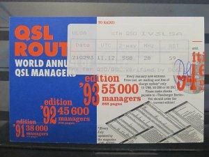 4212 QSL Card Aktau Kazakhstan 1992