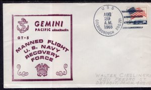 US Gemini 5 Pacific Recovery 1965 USS Goldsborough Space Cover