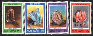 Malawi. 1980. 348-51. Minerals, geology. MNH.