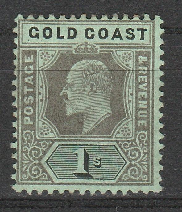 GOLD COAST 1907 KEVII 1/-