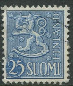Finland - Scott 321 - Arms of Finland -1954- FU - Single 25m Stamp