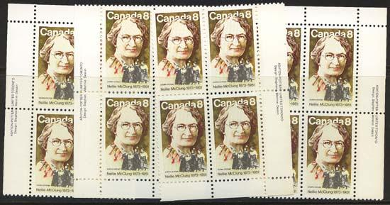 Canada - 1973 Nellie McClung Imprint Blocks mint #622