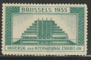 Brussels Fair 1935 Cinderella Poster Stamp Reklamemarken A7P5F838