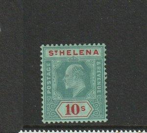 St Helena 1908/11 EDV11 10/- Fresh MM SG 70