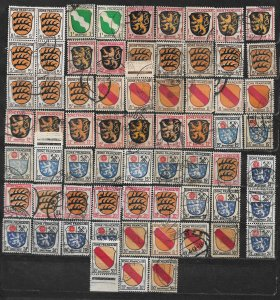 COLLECTION LOT OF 66 GERMANY  FRENCH OCCUPATION 1945+ STAMPS CLEARANCE